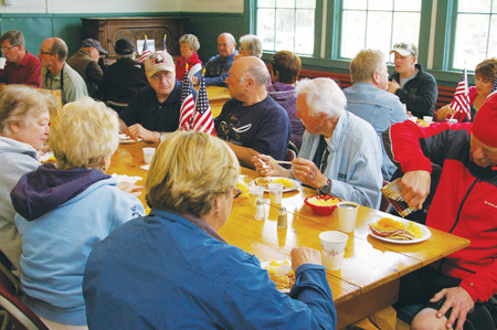Mazama pancake breakfast was a booming success. Photo by Bob Spiwak