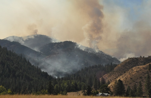 2012 Buckhorn Fire at Gold Creek. File photo by Sue Misao