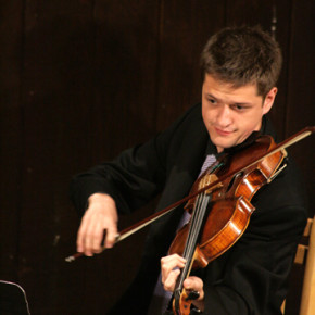 Viola player John Stulz brought youthful energy to Tuesday's concert.