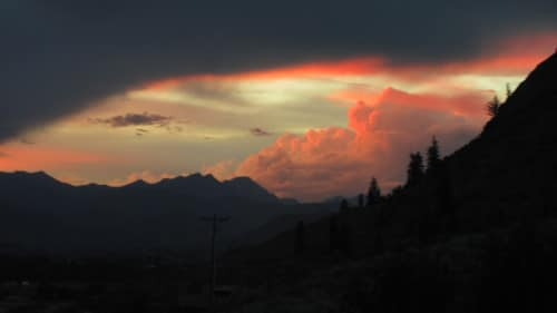 Sunset after Aug. 4 storm, taken in Twisp, facing north toward the Pasayten. Photo by Roberta Arden