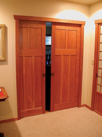 Handcrafted door by Rick Swanson