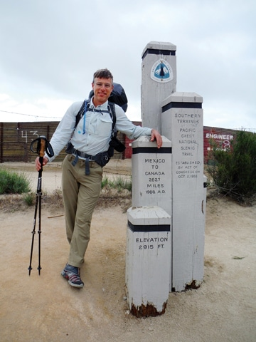 Geoff Gode began his hike in Campo, Calif., on April 25, 2013.