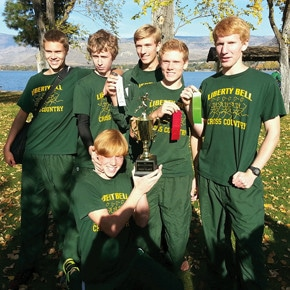 Cross-country varsity boys win 1B/2B district crown