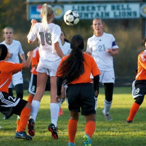 Soccer girls give tough Connell a fight before second-half fade