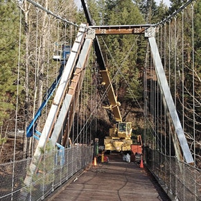Mazama suspension bridge gets upgrade