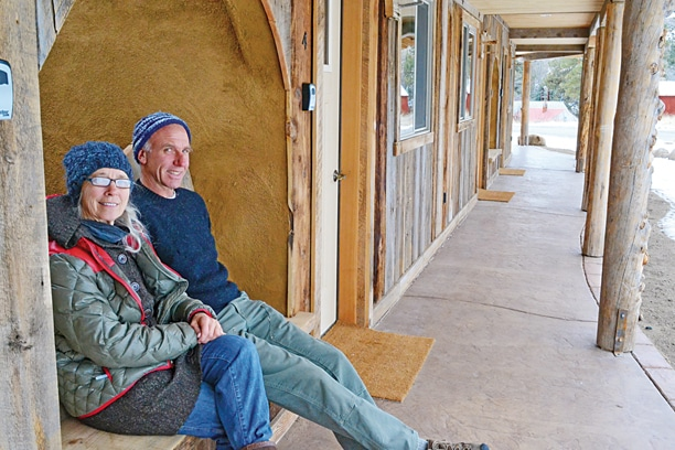 Anna Rogers and Mike Kutz built and will operate the Bunk House Inn. Photo by Laurelle Walsh