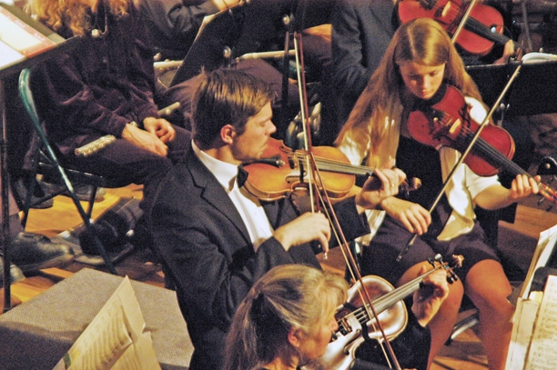 The Pipestone Orchestra performed in two holiday concerts at the Methow Valley Community Center. Photo by Ann McCreary
