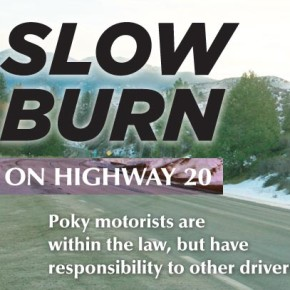 Slow burn on Highway 20