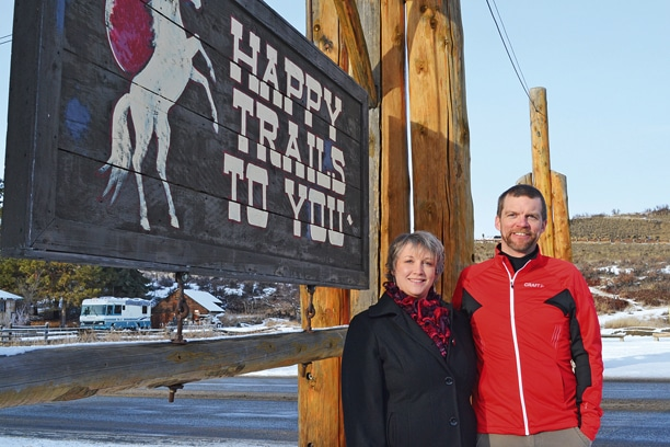 Winthrop Mayor Dave Acheson, here with his wife, Tedra, completes eight years in office this week and says he will take a break from public service—but probably not a permanent one. Photo by Laurelle Walsh