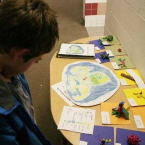 Travis Grialou's fifth-grade project,  displayed at Methow Valley Elementary's family night last Thursday, Jan. 27. Photo by Darla Hussey