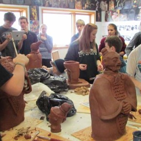 Liberty Bell students teach and learn across disciplines to create terra cotta warriors