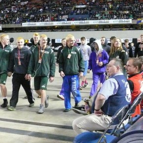 The team entering the Tacoma Dome.Photo by Callie Fink