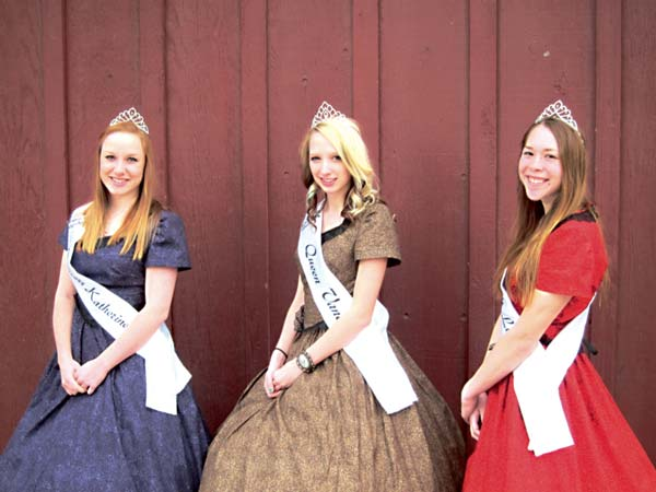 The Winthrop '49er Days junior royalty for 2014 are, from left, Princess Katherine Tannehill, Queen Vanessa Smith and Princess Lily Darwood. Photo by Don Nelson