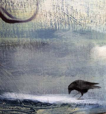 Quoth the raven … 'Come to Confluence Gallery to see a new exhibit opening on Saturday.' Janet Fagan painting courtesy Confluence Gallery