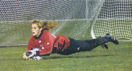 Madeleine Eckmann had 20 saves against LaSalle and helped the Lady Lions to a shootout win over the Lightning and fourth place at state in 2004. MV News archive photo