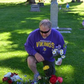 Todd Graves visits the grave of one of his valley ancestors. Photo by Laurelle Walsh
