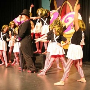 Wonka and the Oompa Loompas perform one of many musical numbers. Photo by Darla Hussey