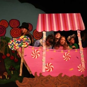 The many props and backdrops were created by young people as well. Photo by Darla Hussey