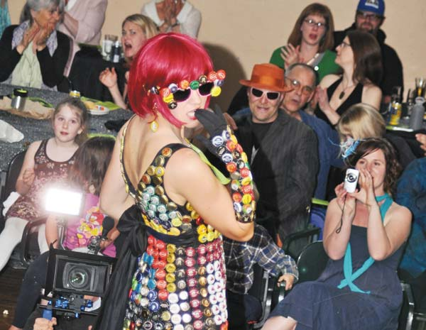 Recycled stylings. The Trashion Show will feature good-looking garbage on Saturday at the Methow Valley Community Center. File photo by Sue Misao