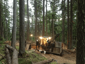The drill rigs the company plans on using are similar to the pictured equipment. Photo courtesy USFS