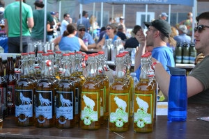 Microbrews from 11 craft breweries were available to taste and take home at Saturday's Winthrop Hop Rendezvous. Photos by Laurelle Walsh