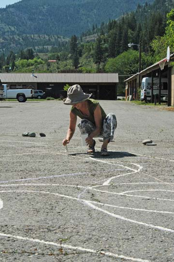 Karin Wimmeder is creating an art  installation at TwispWorks. Photo by Ann McCreary