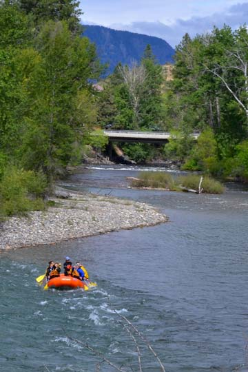 Methow River Raft & Kayak takes a group from Winthrop to Twisp on Monday. Photo by Laurelle Walsh