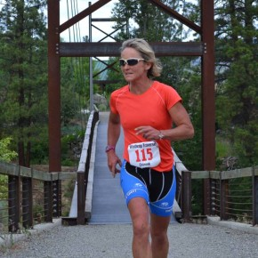 Mazama's own Laura McCabe was the first solo female to finish, with a time of 3 hours, 56 minutes. Photo by Laurelle Walsh