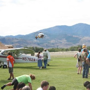 Northwest MedStar gave tours of their helicopter. Photo by Darla Hussey