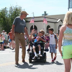 Mike Maltais, left, and Bryan Holm took part in the parade. Photo by Darla Hussey