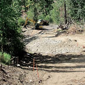 Excavation begins on Methow River side channel restoration