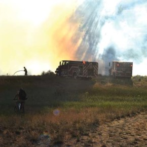 Brush fire ignites state land near Winthrop