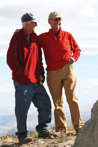 "Don Reddington, right, and Jerry Bristol are ""two brothers in arms."" The story of their challenges living with Alzheimer's disease will be chronicled in monthly articles starting in February in the Methow Valley News. Photo courtesy of Don Reddington"
