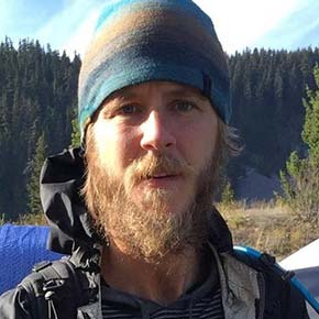 """Photo courtesy of the """"Bring Kris Fowler/Sherpa home"""" Facebook groupKris Fowler has gone missing from a late fall trek on the Washington state portion of the Pacific Crest Trail."""