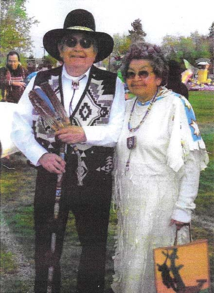 Photo courtesy of the Miller family Lewis and Mary Miller at the Wenatchee Apple Blossom Parade in 2008.