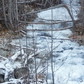 Ice coated the north fork of Libby Creek this past Sunday (Nov. 16). Photo by Darla Hussey