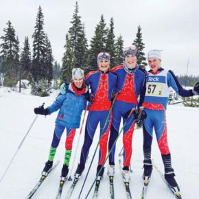 Nordic ski team splits up for busy weekend