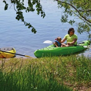 Photo by Laurelle Walsh Saturday was an ideal day for a family kayak outing—and lots of other activities—at Pearrygin Lake State Park, where the beach was full of sunbathers and swimmers.