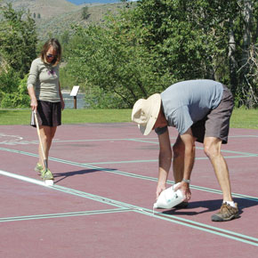 Lining up for pickleball