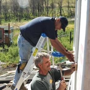 Volunteers continue home-rebuilding efforts