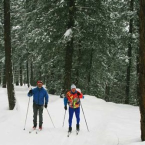 Local Nordic skiers get new orientation guiding blind skiers