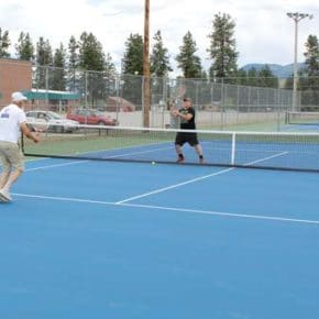 New look for school's tennis courts