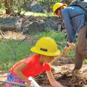 Climbers, USFS combine to build trail
