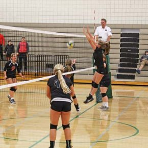 LBHS volleyball team pushes Omak before losing 3-1 at home