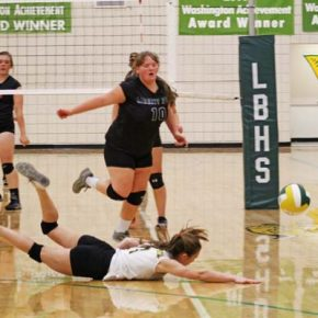 Lady Lions dig deep for first win of volleyball season with gritty comeback