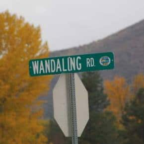 We were just wonderling ...… what happened to the thoroughfare formerly known as Wandling Road, located off of Twin Lakes Road, after the county finished a major paving project recently — which included this new sign. Photo courtesy of Aristides Pappidas