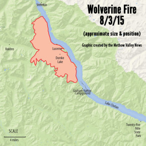 Wolverine Fire creates air quality problems in the Methow Valley