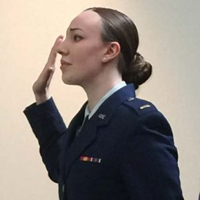 LBHS grad Olivia Bowers commissioned in U.S. Air Force as second lieutenant
