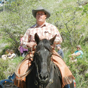 Judge Jason Newman knows the score for Memorial Day Rodeo competitors