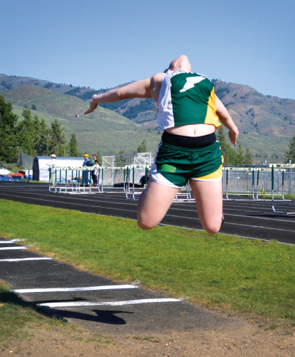 Photo by Laurelle Walsh: Ashley Watson took fourth place in the long jump.